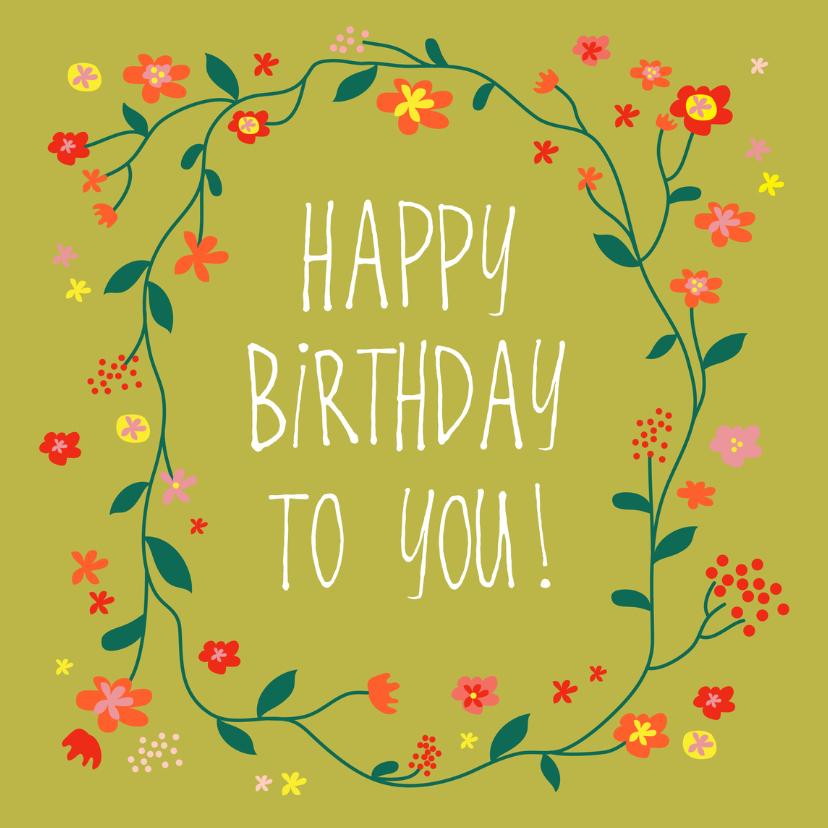 Verjaardagskaarten - Verjaardagskaart birthday