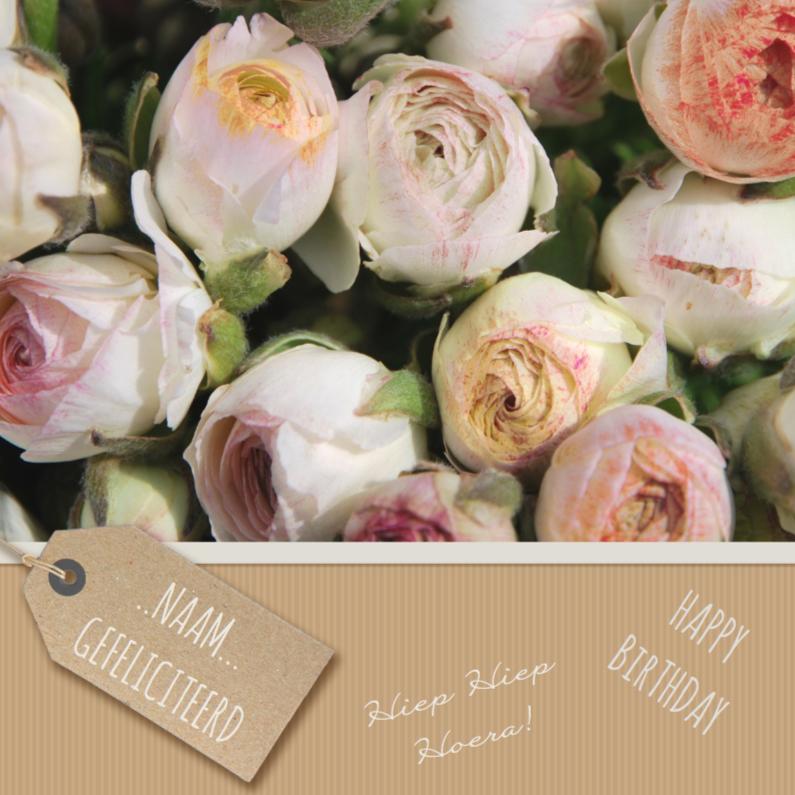 Verjaardagskaarten - Verjaardagskaart bloem kraftlook