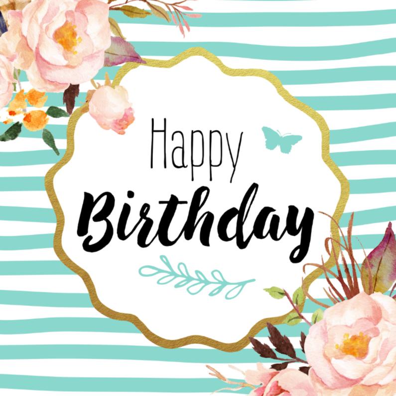Verjaardagskaarten - Verjaardagskaart Bloemen 99