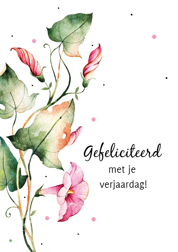 Verjaardagskaarten - Verjaardagskaart: Bloemen gefeliciteerd met je verjaardag!