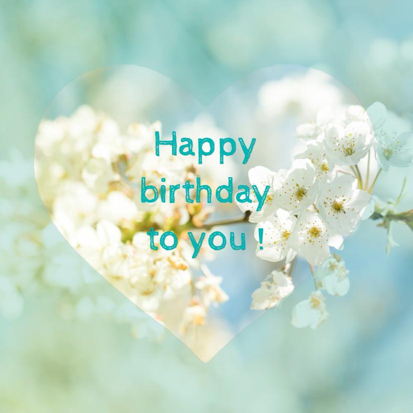 Verjaardagskaarten - Verjaardagskaart bloesem MM