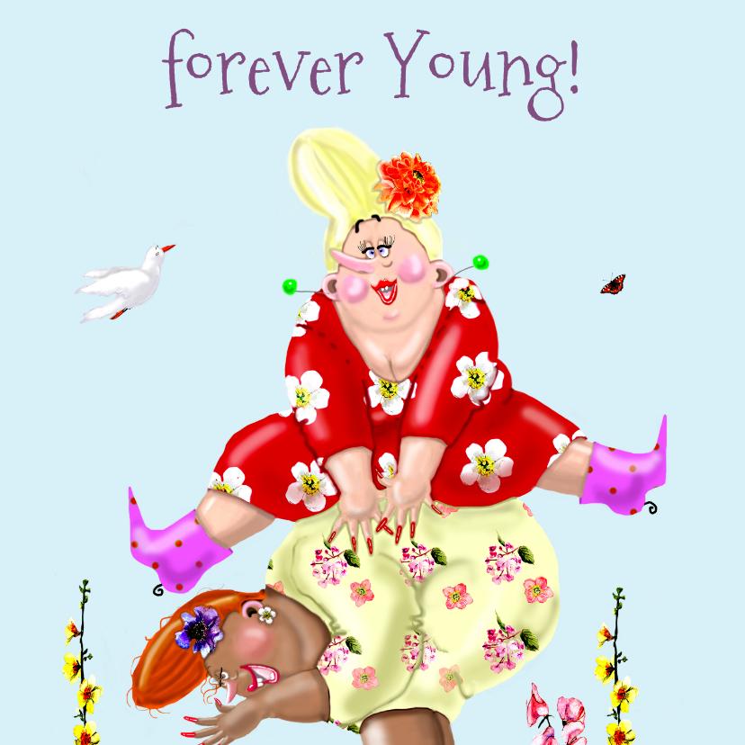 Verjaardagskaarten - Verjaardagskaart Bokje over springen