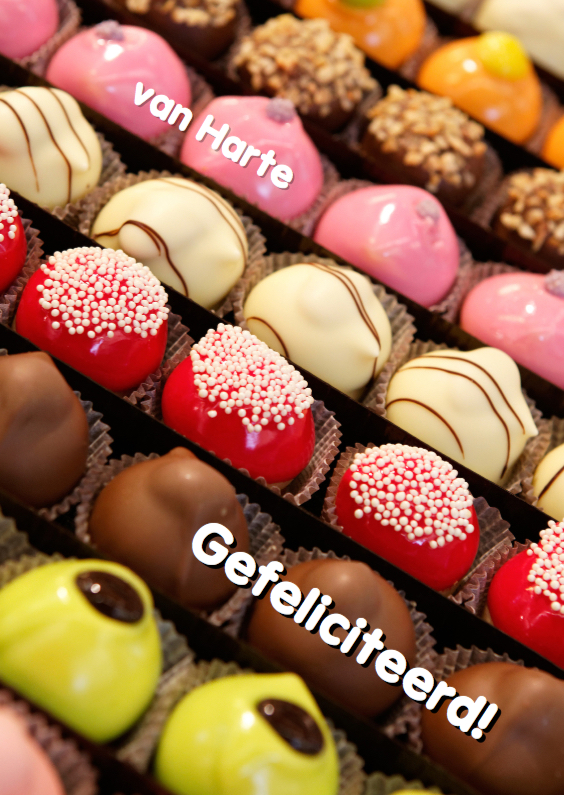 Verjaardagskaarten - Verjaardagskaart Bonbons - OT