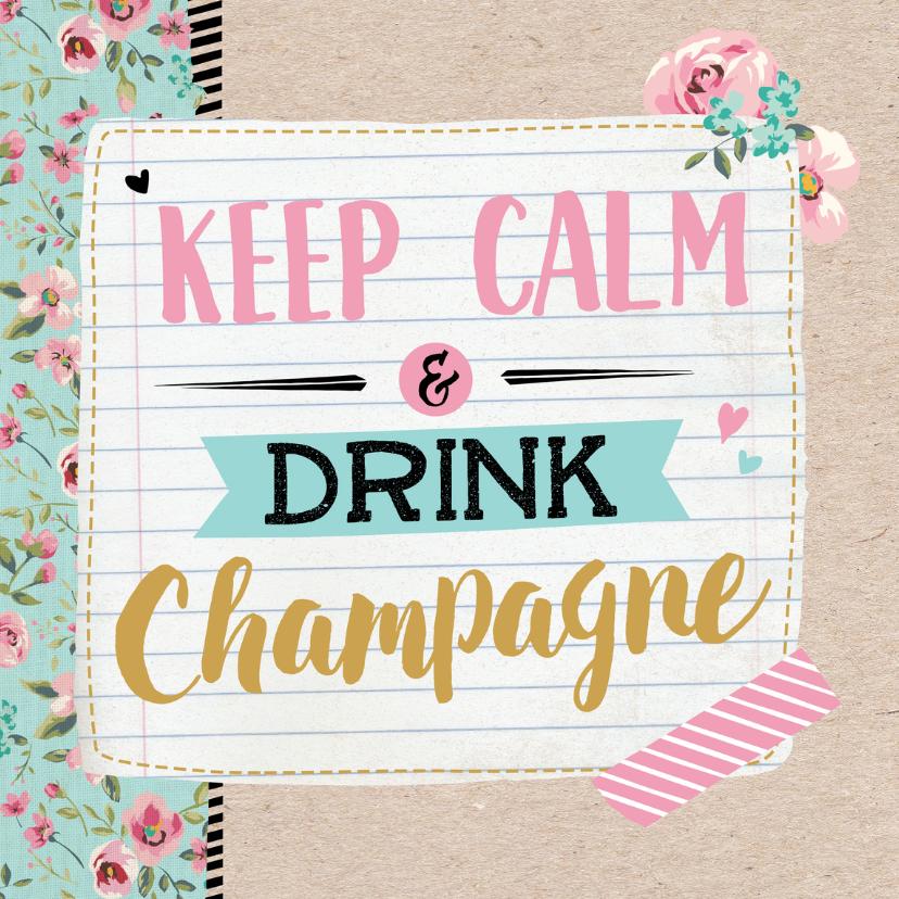 Verjaardagskaarten - Verjaardagskaart Champagne-99