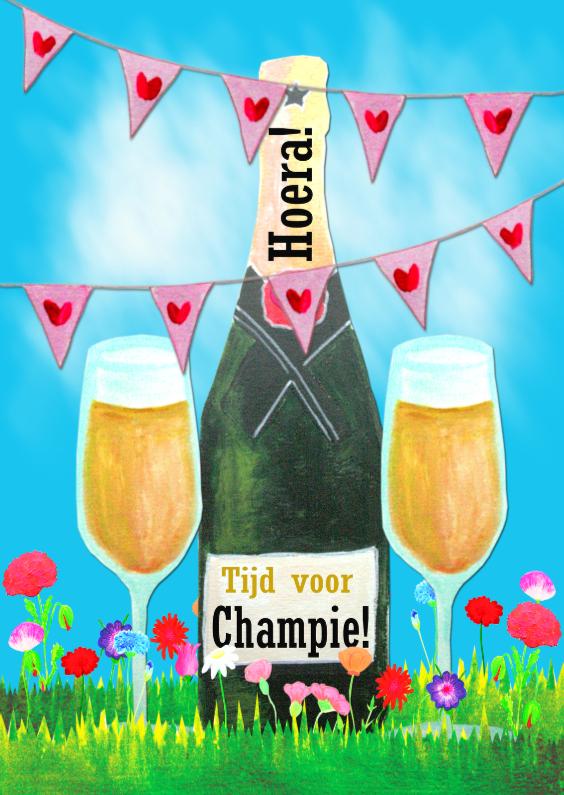 Verjaardagskaarten - Verjaardagskaart Champie PA