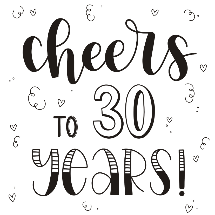 Verjaardagskaarten - Verjaardagskaart - Cheers to 30 years!