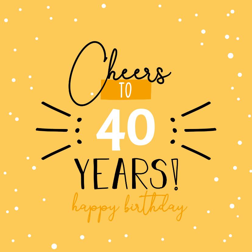 Verjaardagskaarten - verjaardagskaart - Cheers to .. years