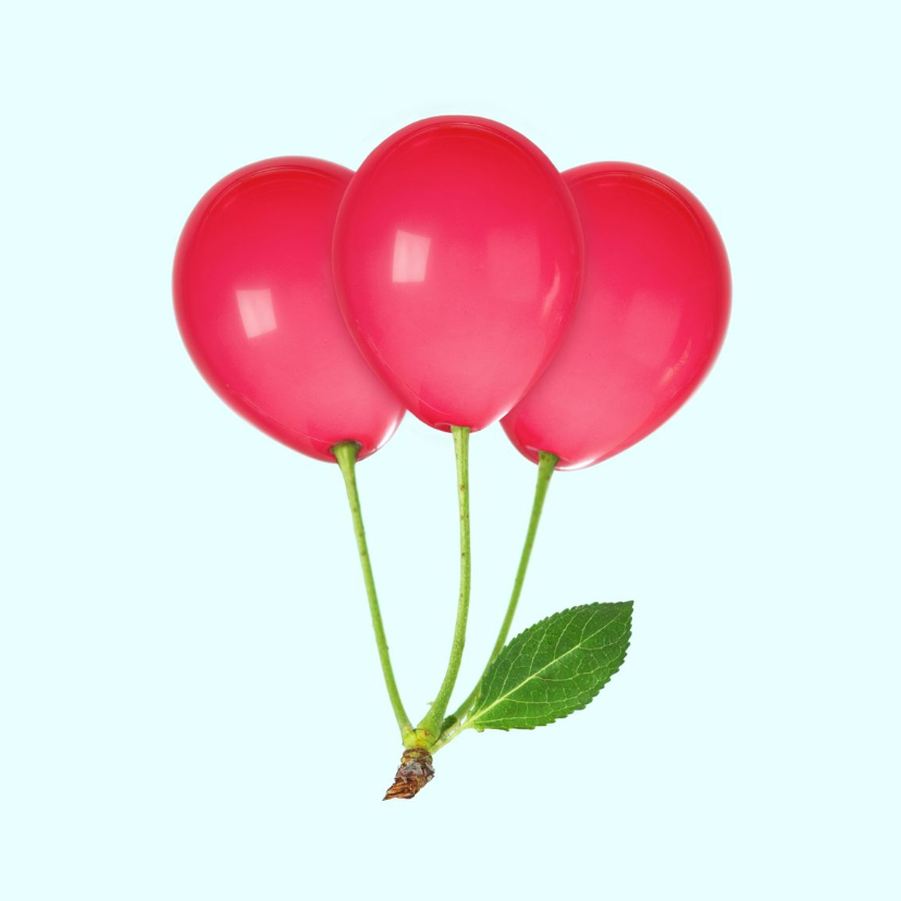 Verjaardagskaarten - Verjaardagskaart 'Cherry Balloon'