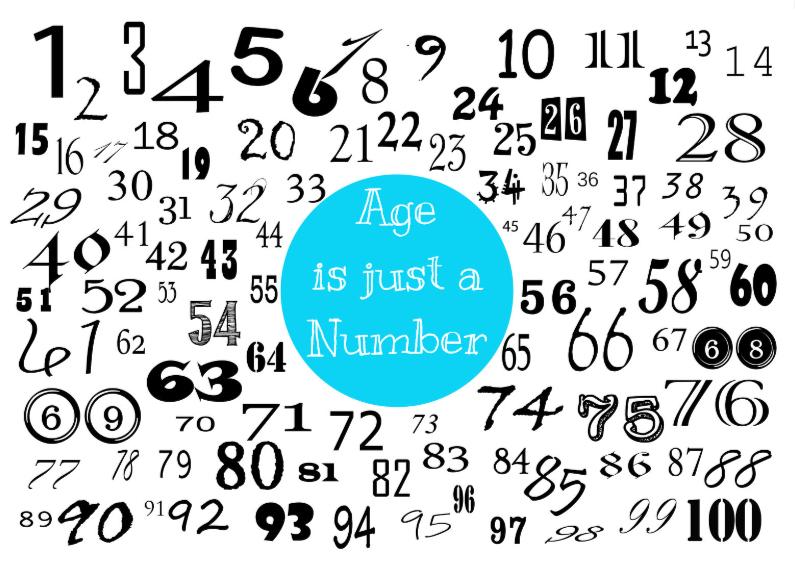 Verjaardagskaarten - Verjaardagskaart cijfers