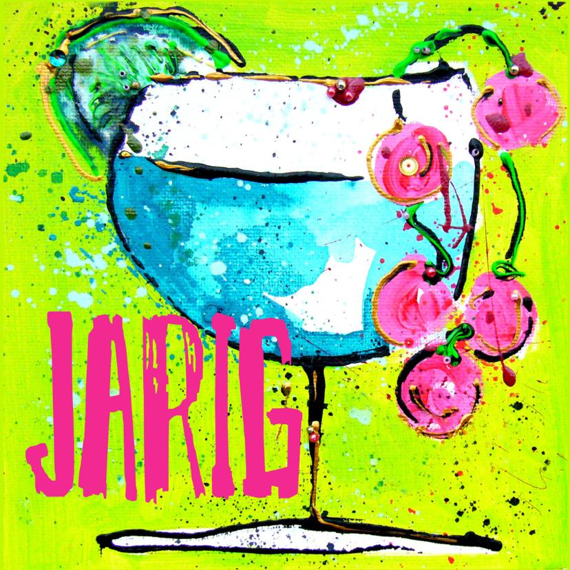 Verjaardagskaarten - Verjaardagskaart cocktail jarig