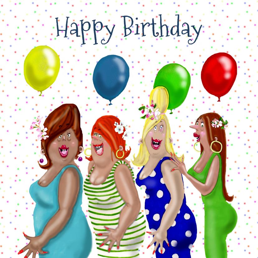 Verjaardagskaarten - Verjaardagskaart confetti feest