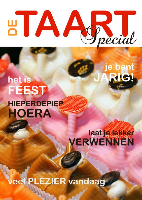 Verjaardagskaarten - Verjaardagskaart Cover Gebakjes - OT