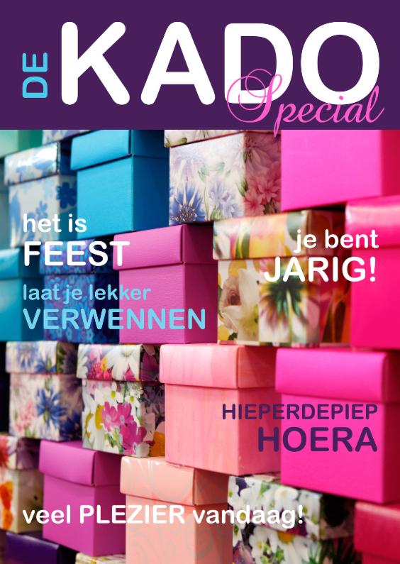 Verjaardagskaarten - Verjaardagskaart Cover Kadootjes