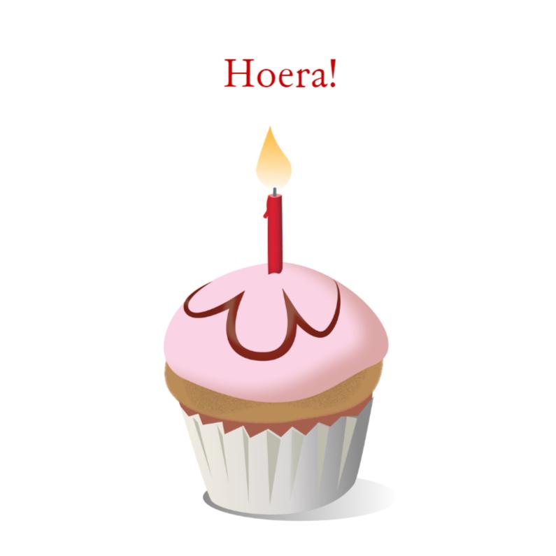 Verjaardagskaarten - Verjaardagskaart Cupcake One