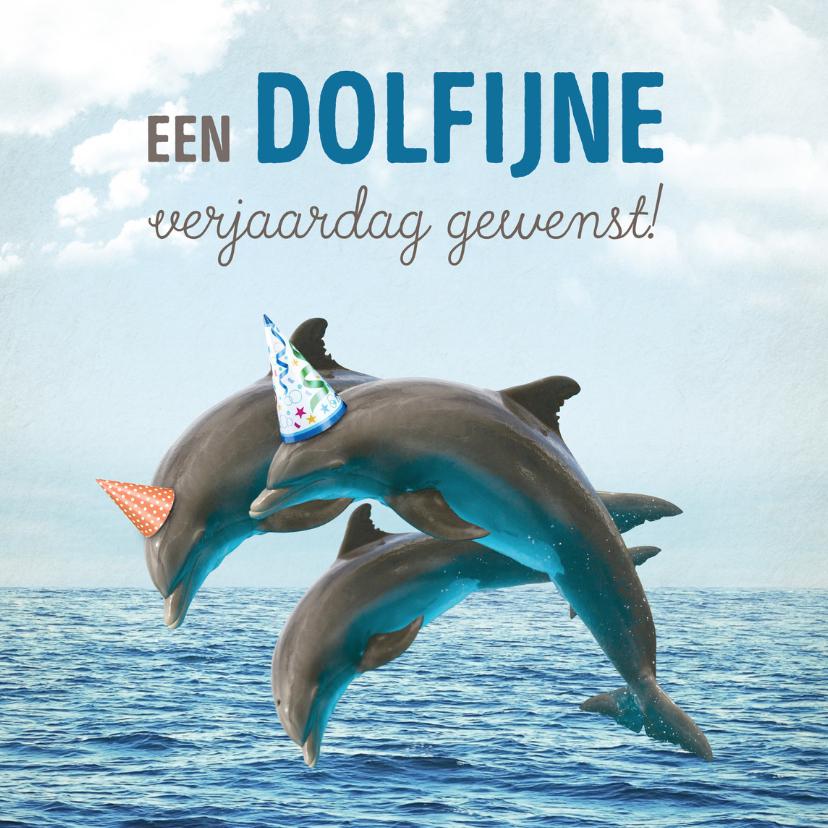 Verjaardagskaarten - Verjaardagskaart dolfijn