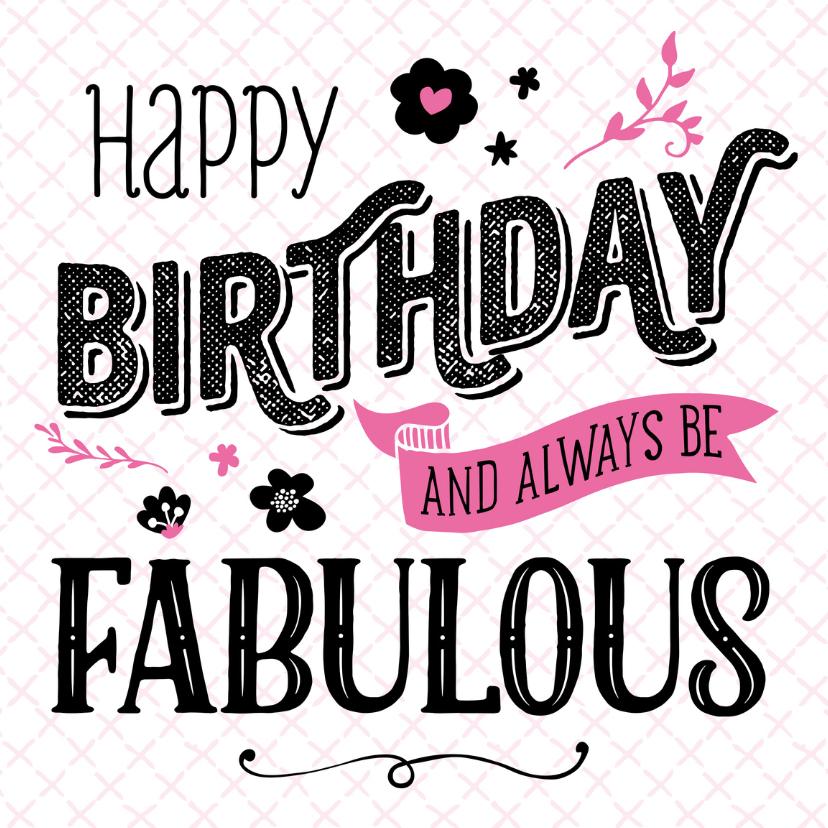 Verjaardagskaarten - Verjaardagskaart Fabulous
