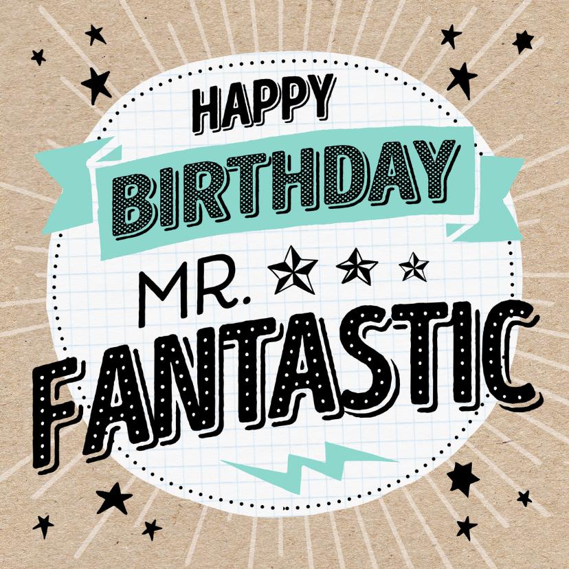 Verjaardagskaarten - Verjaardagskaart Fantastic