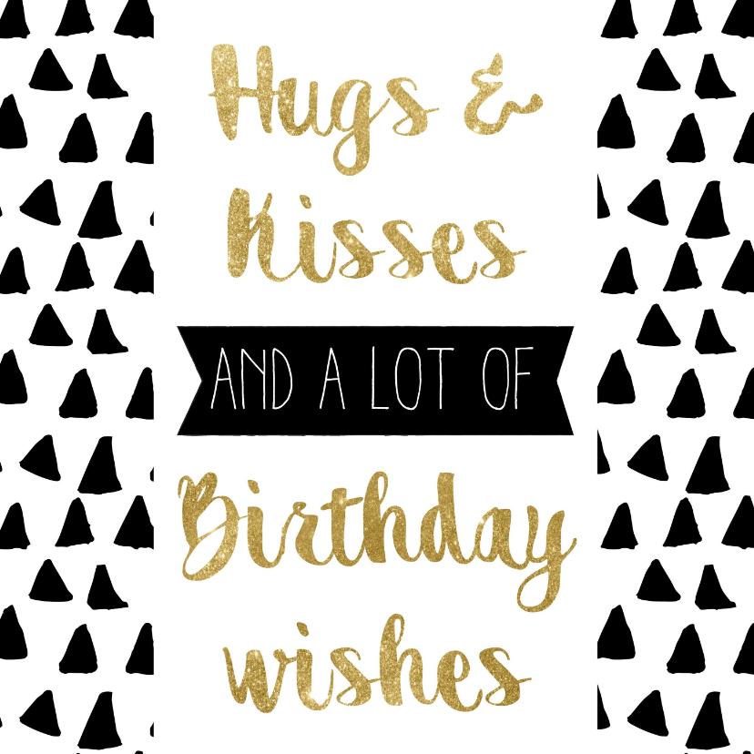 Verjaardagskaarten - Verjaardagskaart Feestelijk goud