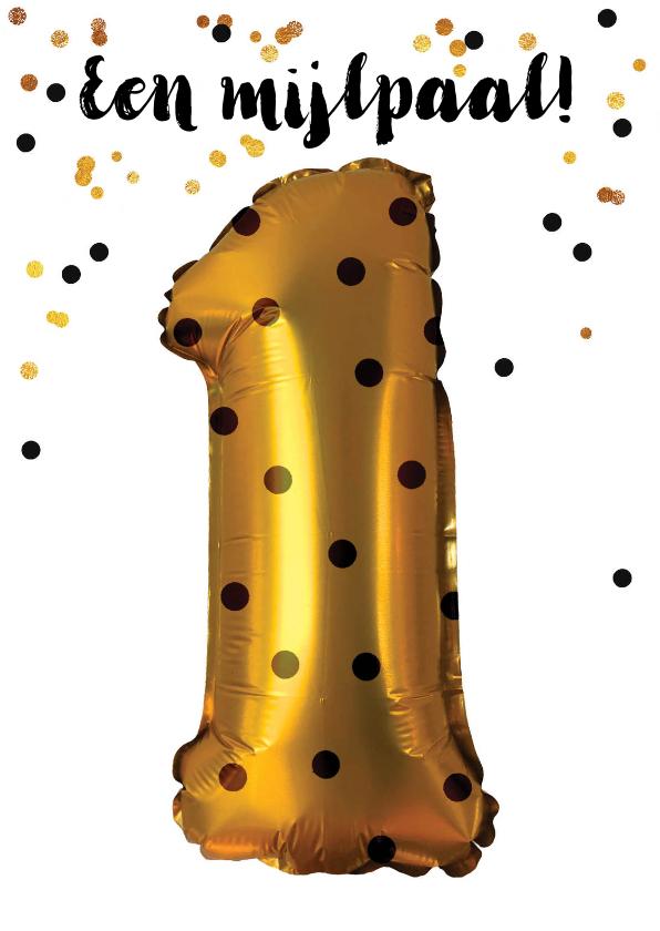Verjaardagskaarten - Verjaardagskaart felicitatie 1 jaar jongen meisje