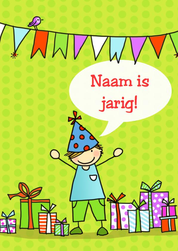 Verjaardagskaarten - Verjaardagskaart Flip met tekstballon