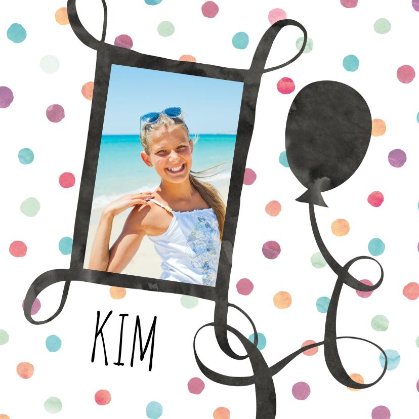 Verjaardagskaarten - Verjaardagskaart foto met ballon
