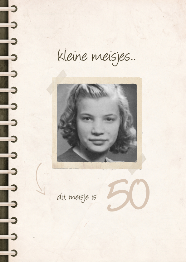 Verjaardagskaarten - Verjaardagskaart fotoboek 'kleine meisjes worden groot'