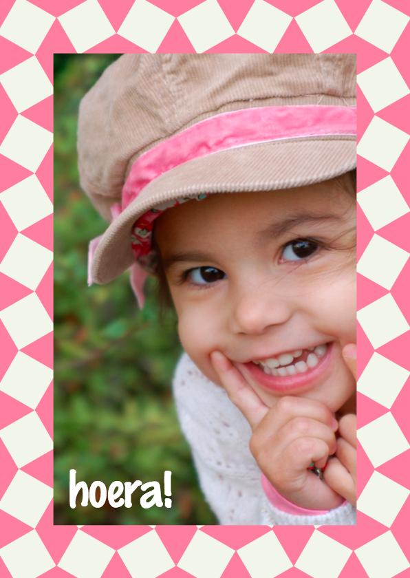 Verjaardagskaarten - Verjaardagskaart Fotokader Strikje