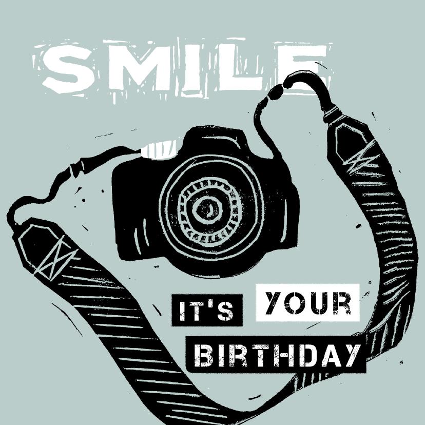 Verjaardagskaarten - Verjaardagskaart fototoestel