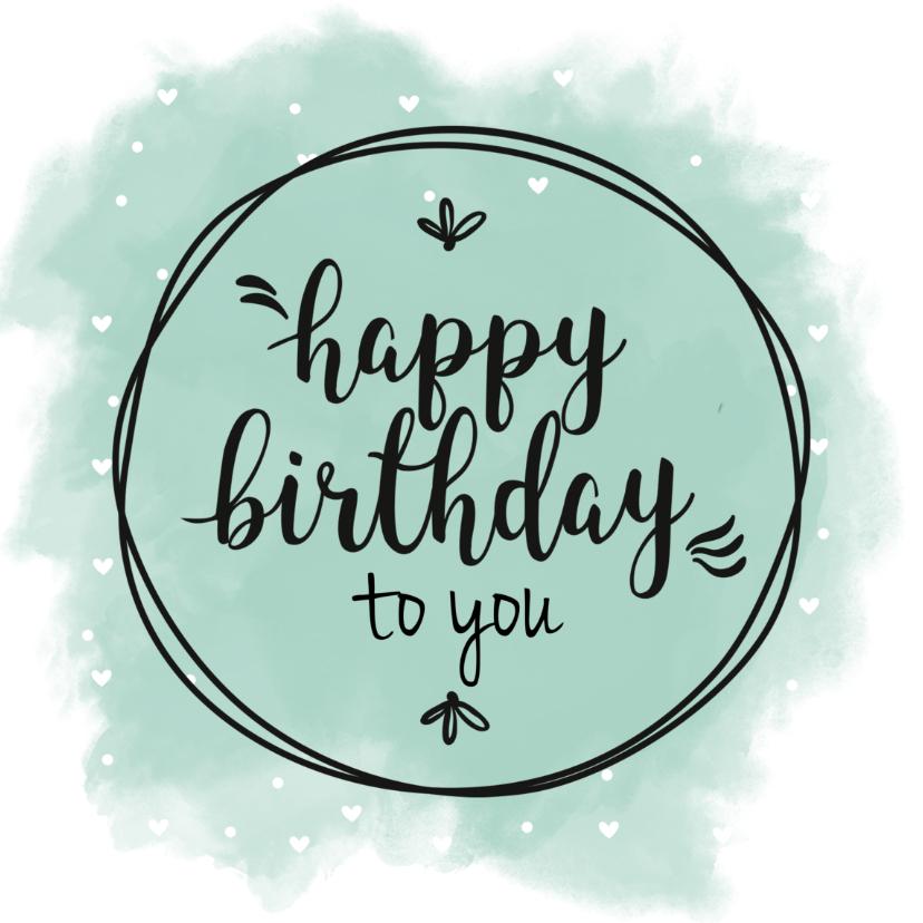 Verjaardagskaarten - Verjaardagskaart geef het een kleurtje