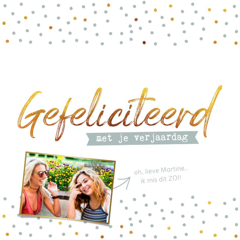 Verjaardagskaarten - Verjaardagskaart - gefeliciteerd met je verjaardag foto goud
