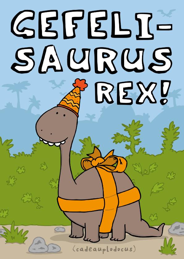 Verjaardagskaarten - Verjaardagskaart Gefelisaurus