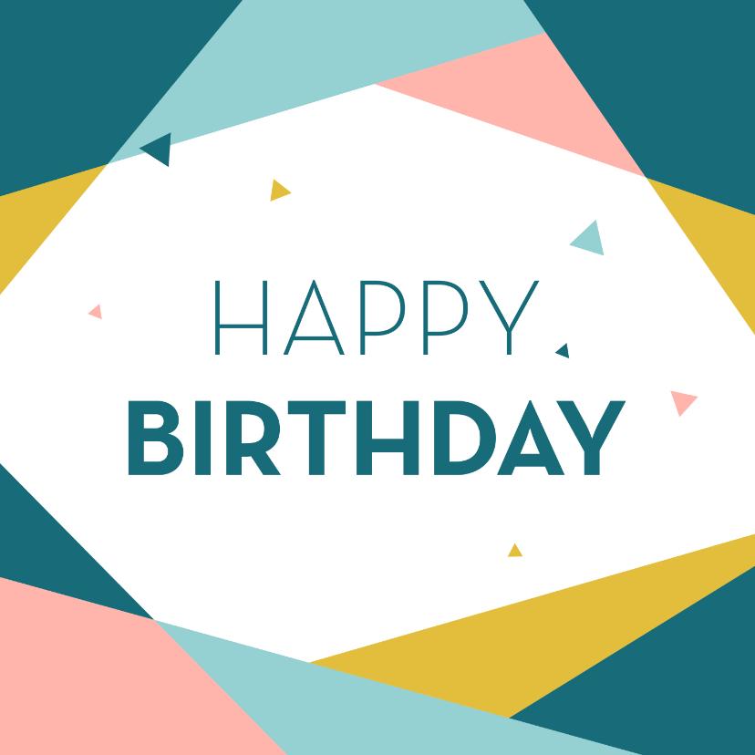 Verjaardagskaarten - Verjaardagskaart geometrisch driehoek