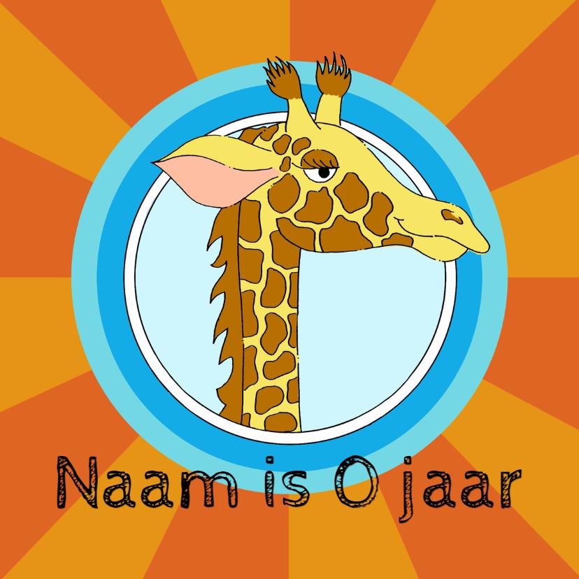 Verjaardagskaarten - Verjaardagskaart giraf