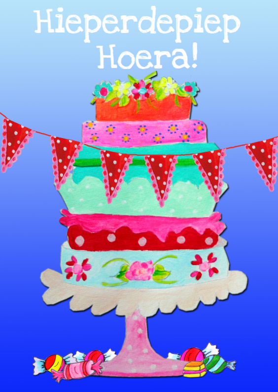 Verjaardagskaarten - Verjaardagskaart Ha Taart PA
