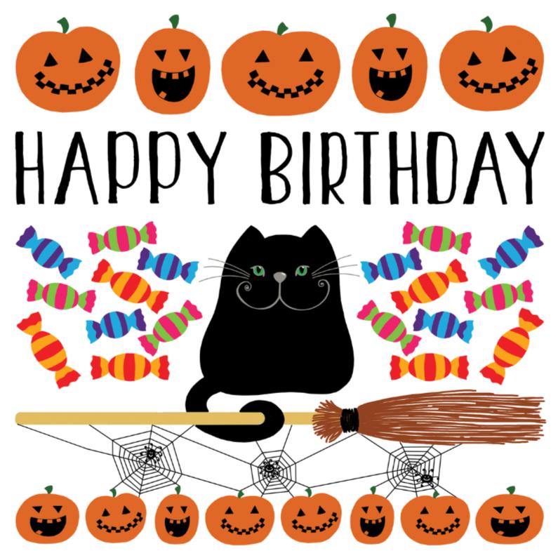 Verjaardagskaarten - Verjaardagskaart halloween