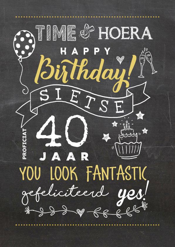 Verjaardagskaarten - Verjaardagskaart handlettering illustraties