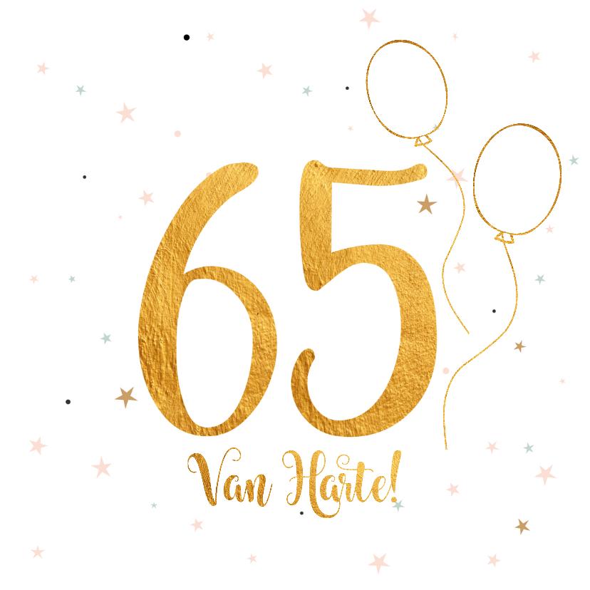 Verjaardagskaarten - Verjaardagskaart happy 65 jaar
