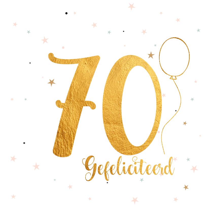 Verjaardagskaarten - Verjaardagskaart happy 70 jaar