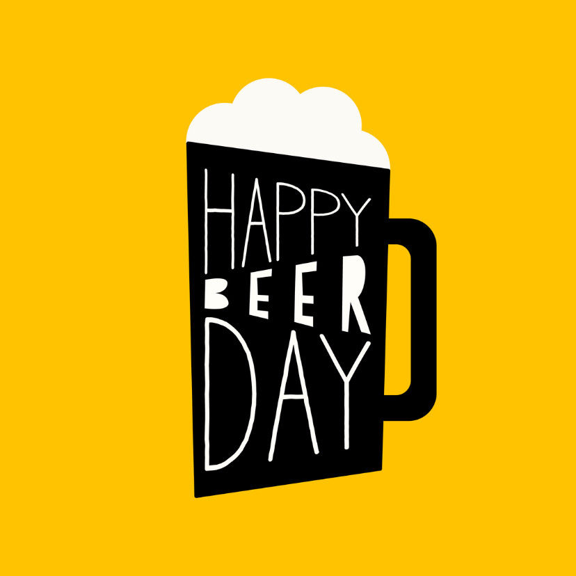 Verjaardagskaarten - Verjaardagskaart 'Happy Beerday'