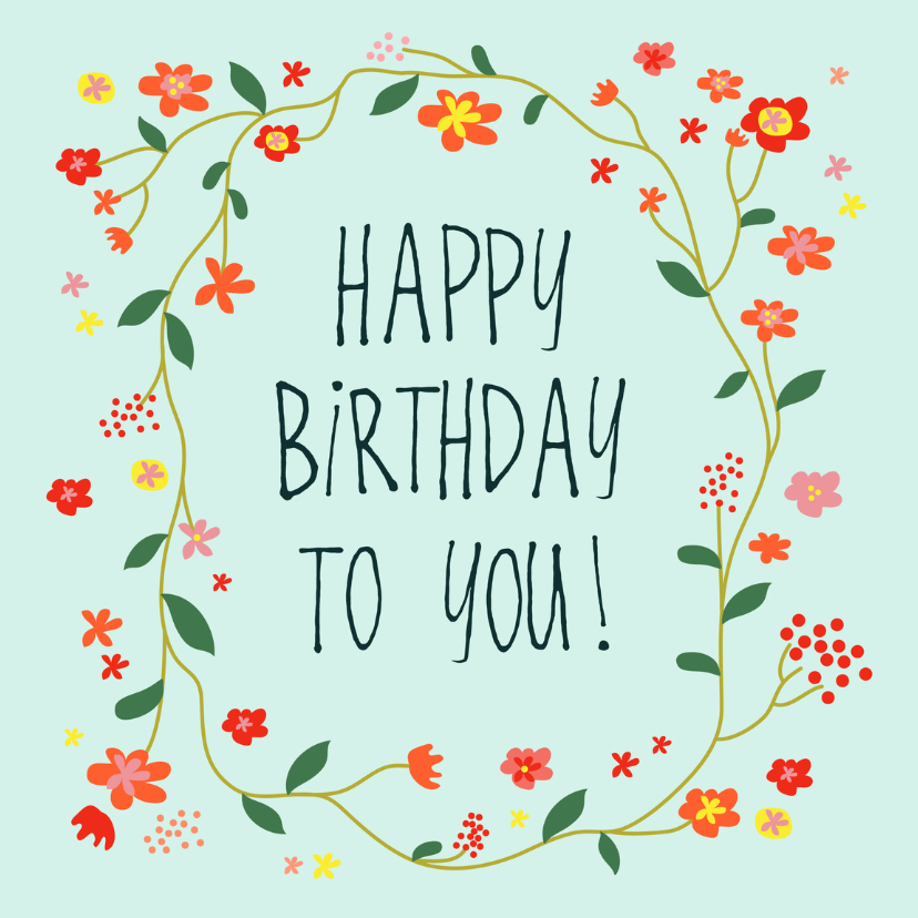 Verjaardagskaarten - verjaardagskaart happy day!