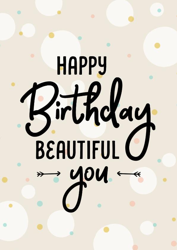 Verjaardagskaarten - Verjaardagskaart happy dots