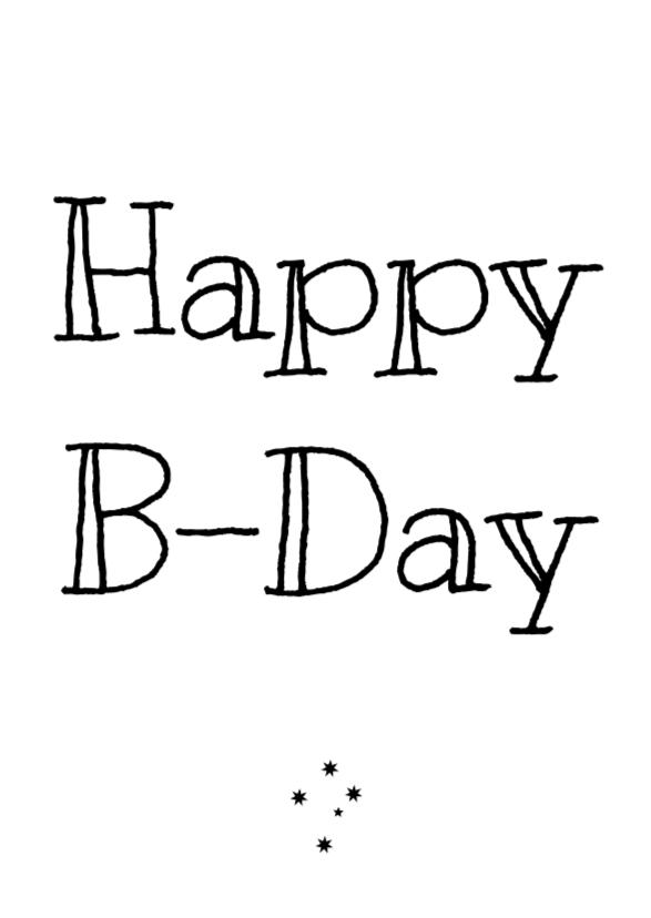 Verjaardagskaarten - Verjaardagskaart Happy