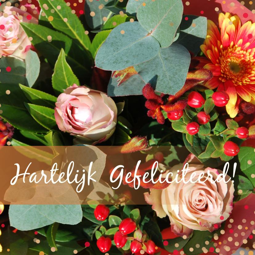 Verjaardagskaarten - Verjaardagskaart herfstbloemen