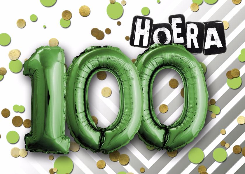 Verjaardagskaarten - Verjaardagskaart hoera 100 - SG