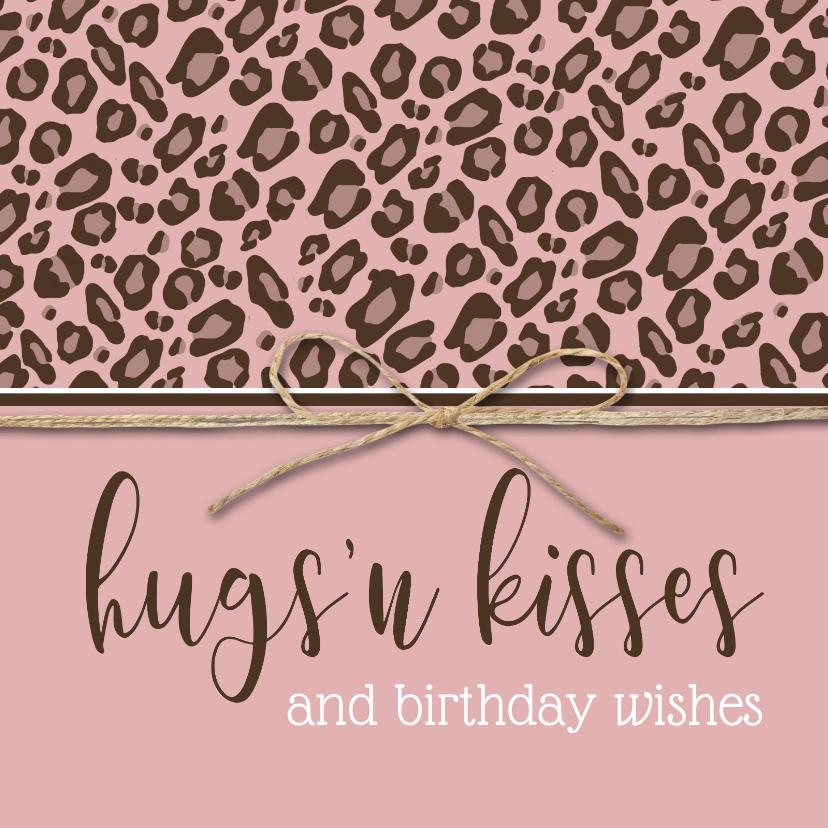 Verjaardagskaarten - Verjaardagskaart hugs 'n kisses