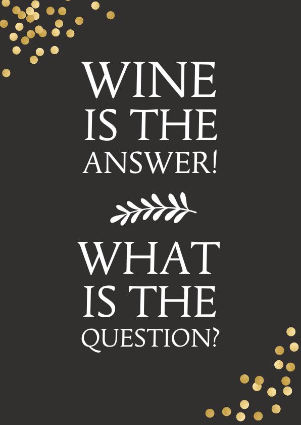 Verjaardagskaarten - Verjaardagskaart humor met wijn