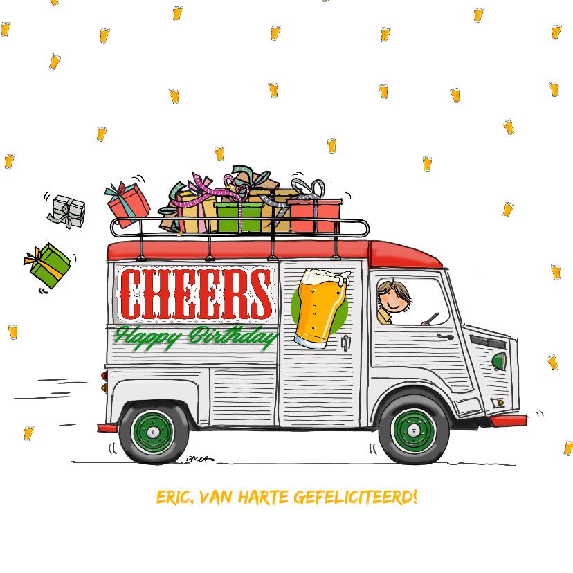 Verjaardagskaarten - Verjaardagskaart HY bus cheers