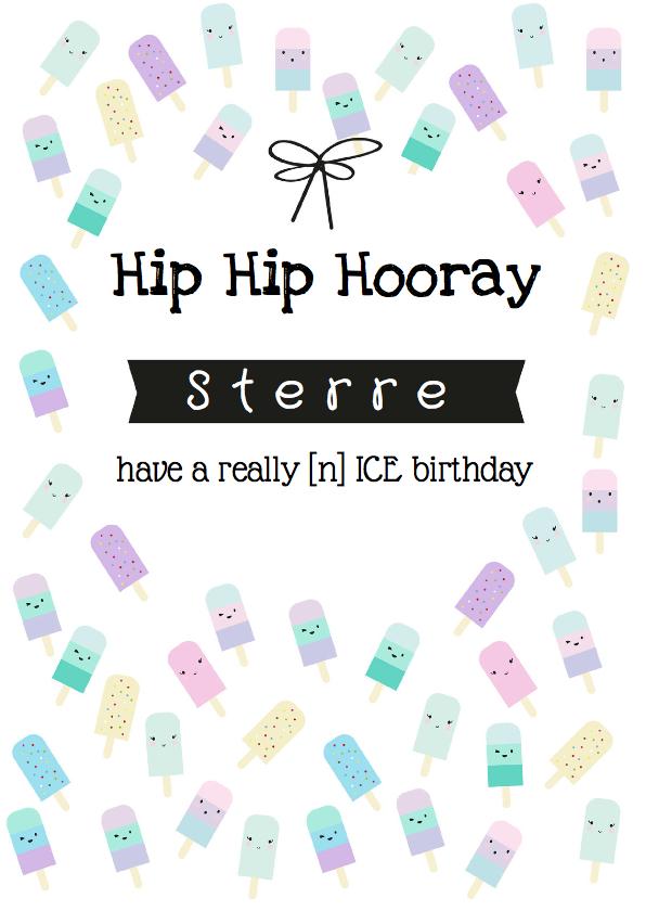 Verjaardagskaarten - Verjaardagskaart IJsjes