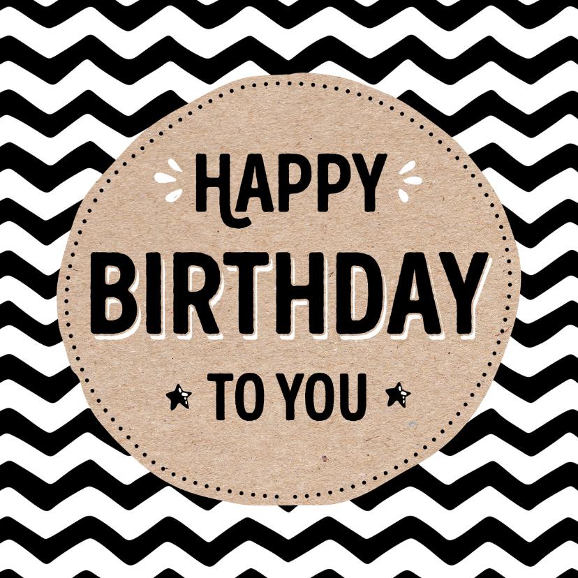 Verjaardagskaarten - Verjaardagskaart Jagged