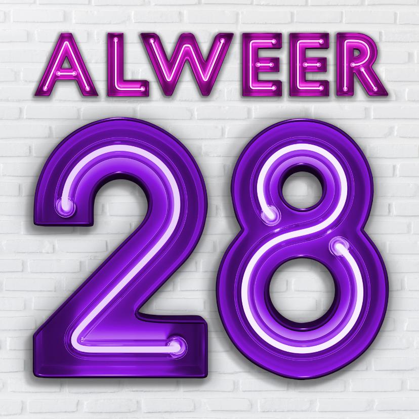 Verjaardagskaarten - Verjaardagskaart Je eerste of zesde keer 28 worden.